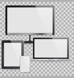 set computer devices vector image