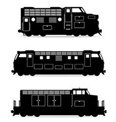 set icons lokomotiv 02 vector image