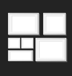set of realistic square photo frames vector image