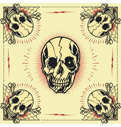 Skull bone cross Frame vector