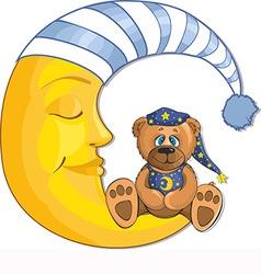 Sleeping moon design vector