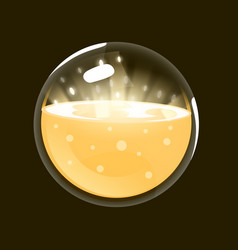 Sphere of light game icon of magic orb interface vector
