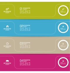 Strips of paper of different colors with pointers vector image