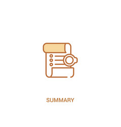 summary concept 2 colored icon simple line vector image