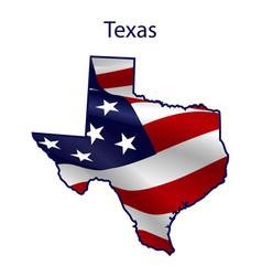 texas full american flag vector image