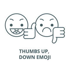 thumbs up down emoji line icon linear vector image