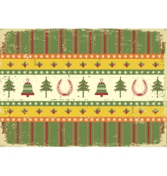 vintage christmas decoration on old paper vector image