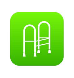 walker icon digital green vector image