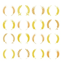 Wheat ear symbols for logo design vector