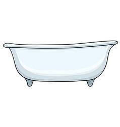 White bathtub vector