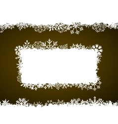 Winter Frame with Snowflakes Holiday Background vector image