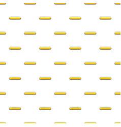 Yellow rectangular button pattern vector