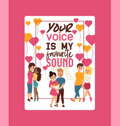 your voice is my favourite sound poster vector image