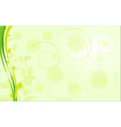 abstract ecological border with plants vector image vector image