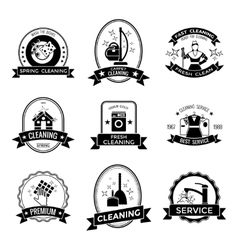 Cleaning service graphic emblems vector