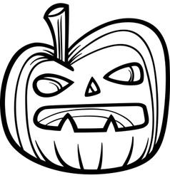 halloween pumpkin for coloring book vector image vector image