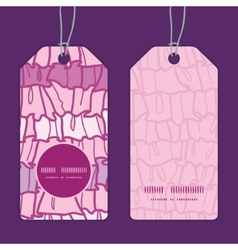 pink ruffle fabric stripes vertical round frame vector image