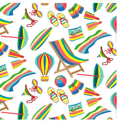 seamless beach and sea pattern vector image vector image