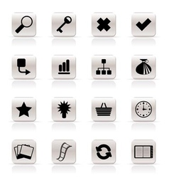 simple internet and web site icons vector image