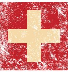 Switzerland retro flag vector image