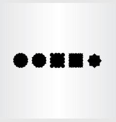 black frames labed design elements vector image vector image