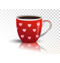 Cup of coffee on transparent vector image