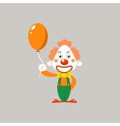 Happy Clown Holding Balloon vector image