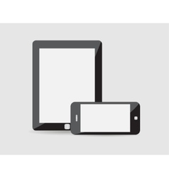 modern phone tablet on a vector image