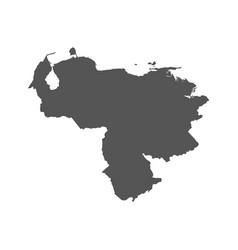 venezuela map black icon on white background vector image vector image