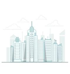 City background urban landscape line vector image