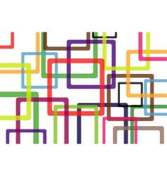 colorful background with abstract shapes vector image