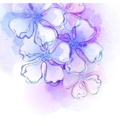 Decorative watercolor spring flower vector image vector image