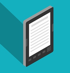 E-Book isometric vector image vector image