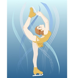 Girl Figure Skater vector image