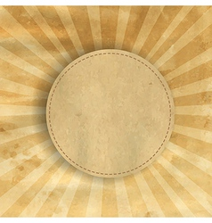 Retro Brown Vintage Square Sunburst vector image vector image