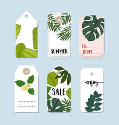 set of hand drawn summer vintage sale labels and vector image vector image
