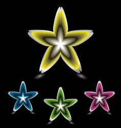star flower icon black vector image vector image