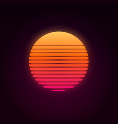 80s retro sunset vector image