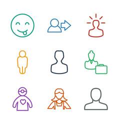 9 avatar icons vector