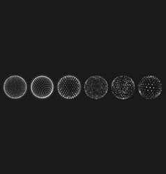 Abstract grid sphere realistic 3d globes set vector