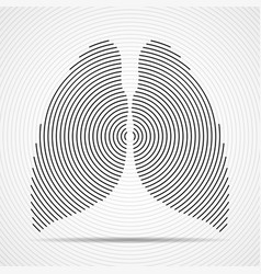 abstract human lungs radial lines vector image