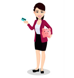 Asian business woman in office clothes vector