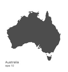 australia map on white vector image