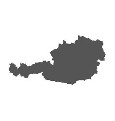 Austria map black icon on white background vector
