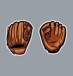 Baseball gloves logo icon asset vector