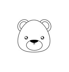 bear drawing face vector image