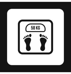 Black floor scales icon simple style vector
