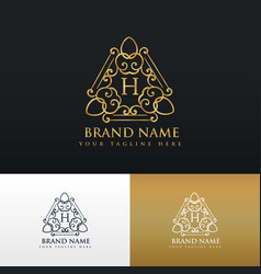 brand logo design in luxury vintage style vector image