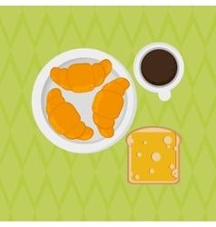 Breakfast icon design vector image vector image