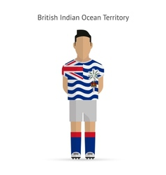 British Indian Ocean Territory football player vector image